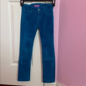 Kids Blue velvety pants